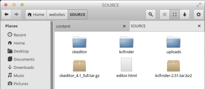 kcfinder-ckeditor-development-folder