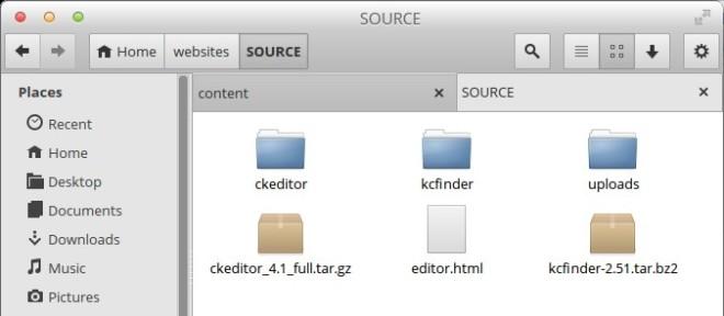 kcfinder-ckeditor-development-folder