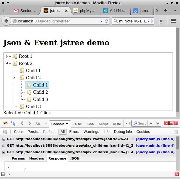 jstree – ajax json & click event – G3n1k's Blog