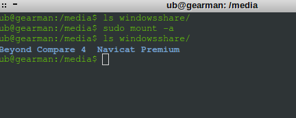 windows shared folder with password – auto mount in linux