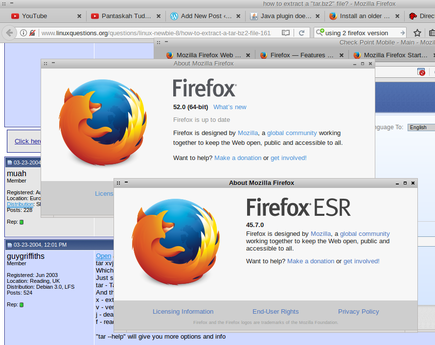 debian linux – using two browser firefox version – G3n1k's Blog